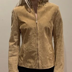 Ann Taylor tan suede leather  jacket, 6